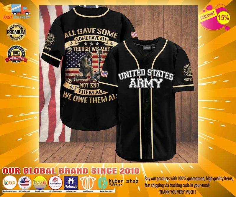 Veteran all gave some some gave all American flag baseball shirt2