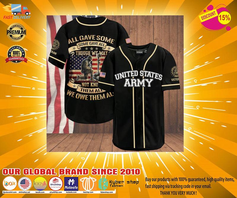 Veteran American flag All gave some gave all baseball jersey4