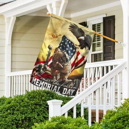 Veteran eagle American honor the fallen memorial day flag4