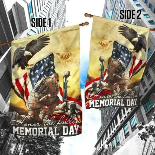 Veteran eagle American honor the fallen memorial day flag3
