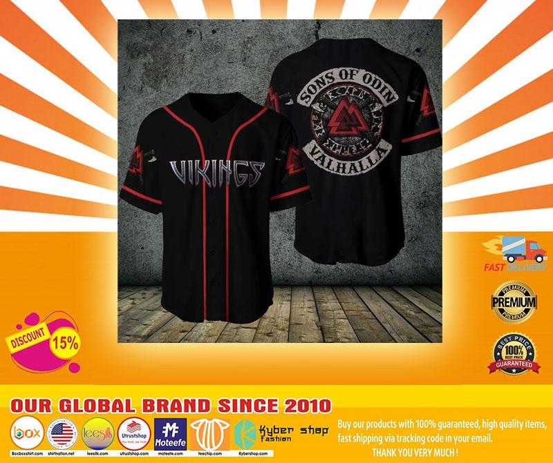 Viking sons of odin valhalla baseball shirt4