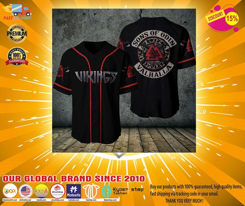 Viking sons of odin valhalla baseball shirt2