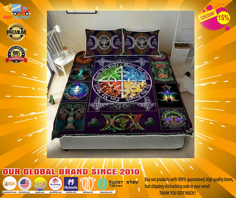 Wiccan witch pagan quilt bedding set21