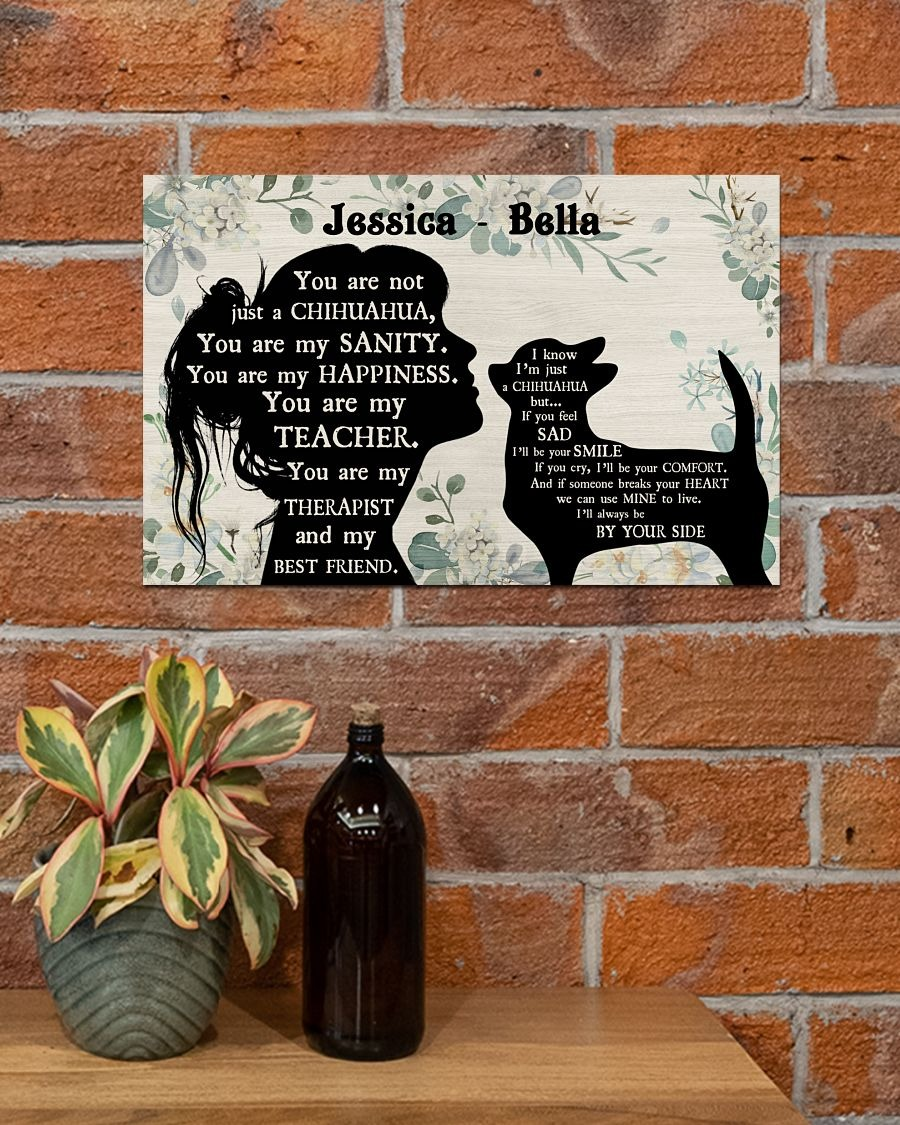 You are not just a Chihuahua custom name poster3