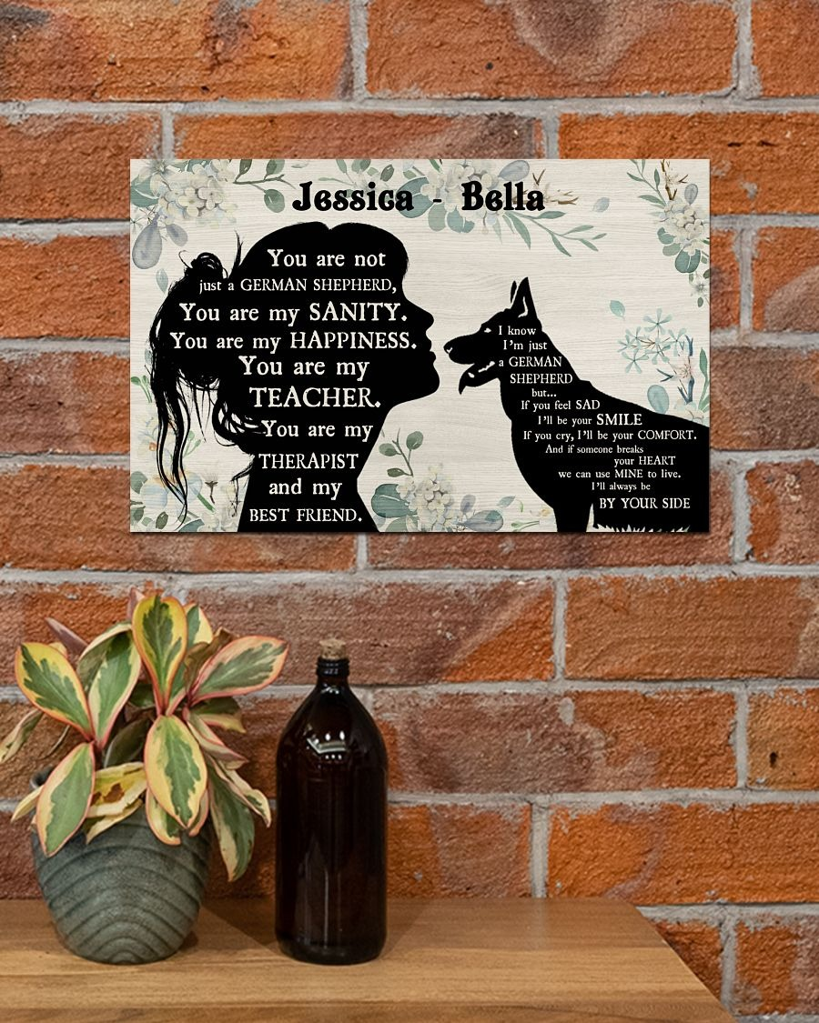 You are not just a German Shepherd custom name poster4