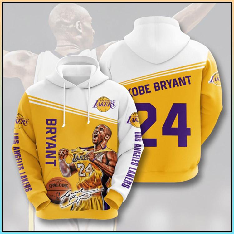 Bryant Los Angeles Lakers 3D Hoodie2
