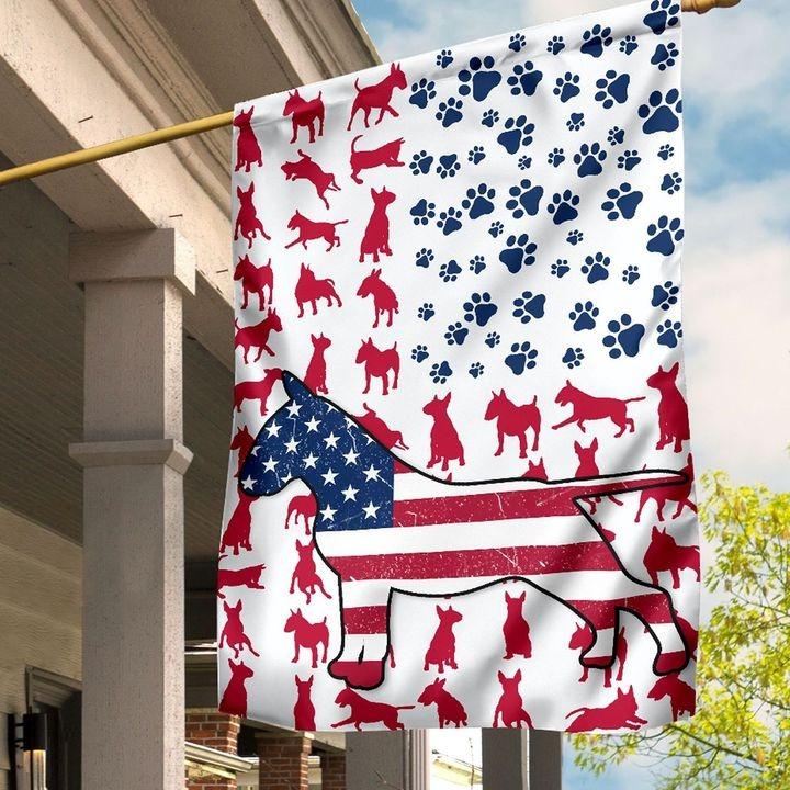 Bull Amercian house flag and garden flag