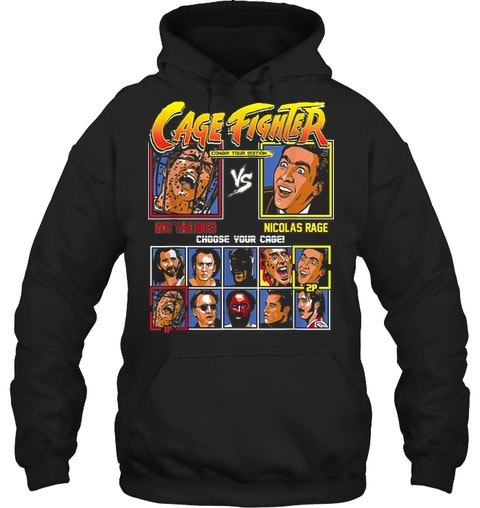 Cage fighter not the bees vs nicolas rage shirt 14 1