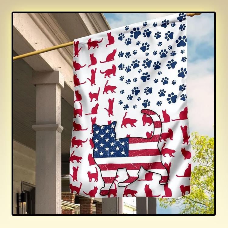 Cat Amercian house flag and garden flag and garden flag