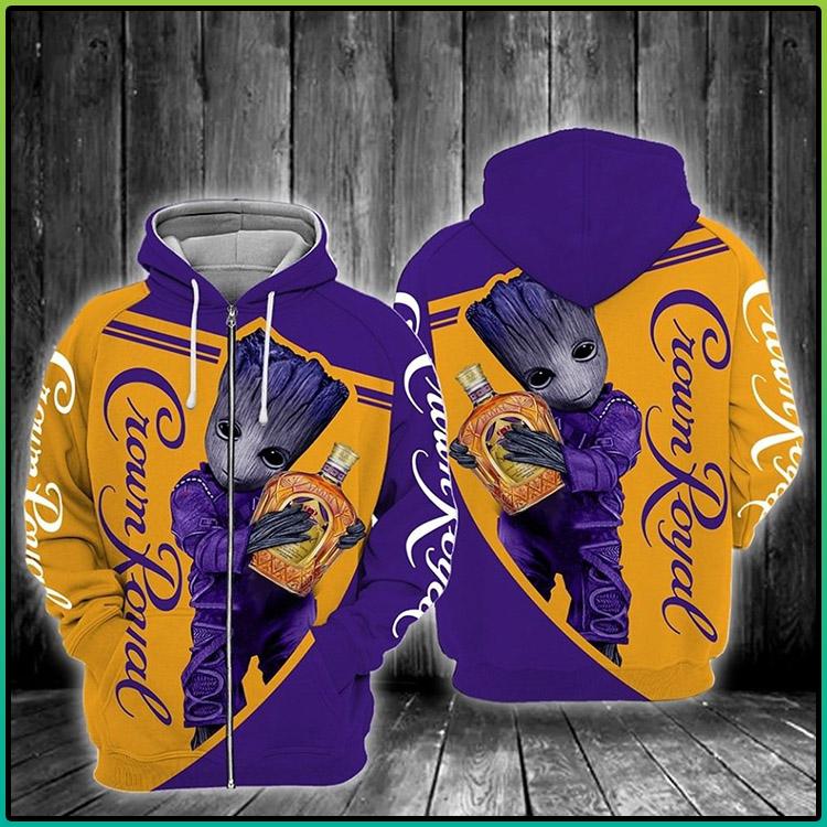 Crown Royal Zipper 3d Hoodie3