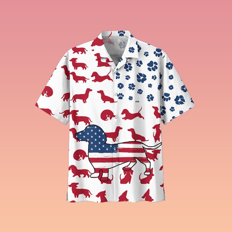 Dachshund Hawaiian shirt3
