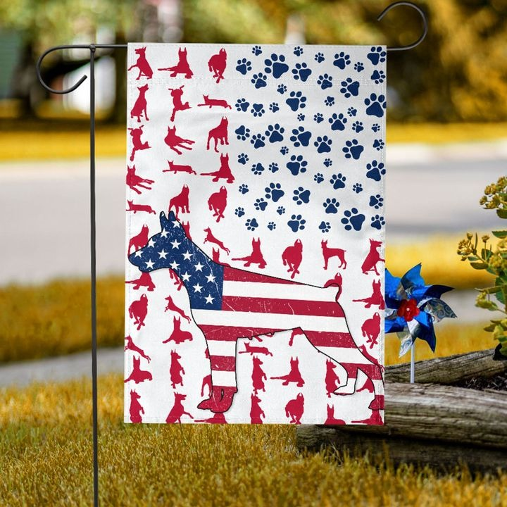 Doberman American house flag and garden flag