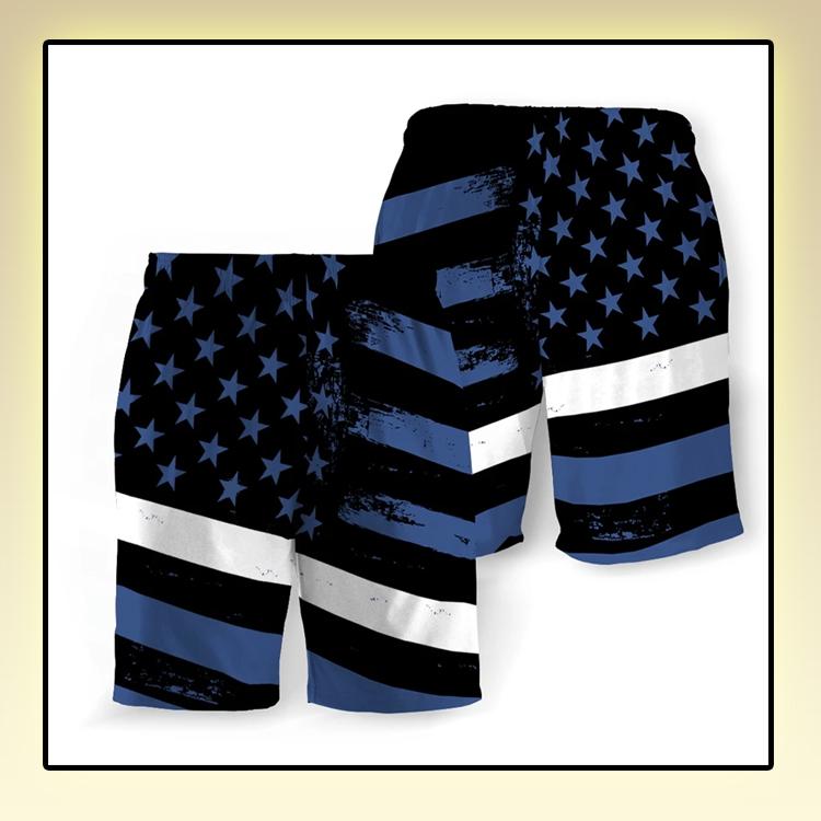 Emergency Medical American Flag Beach Short
