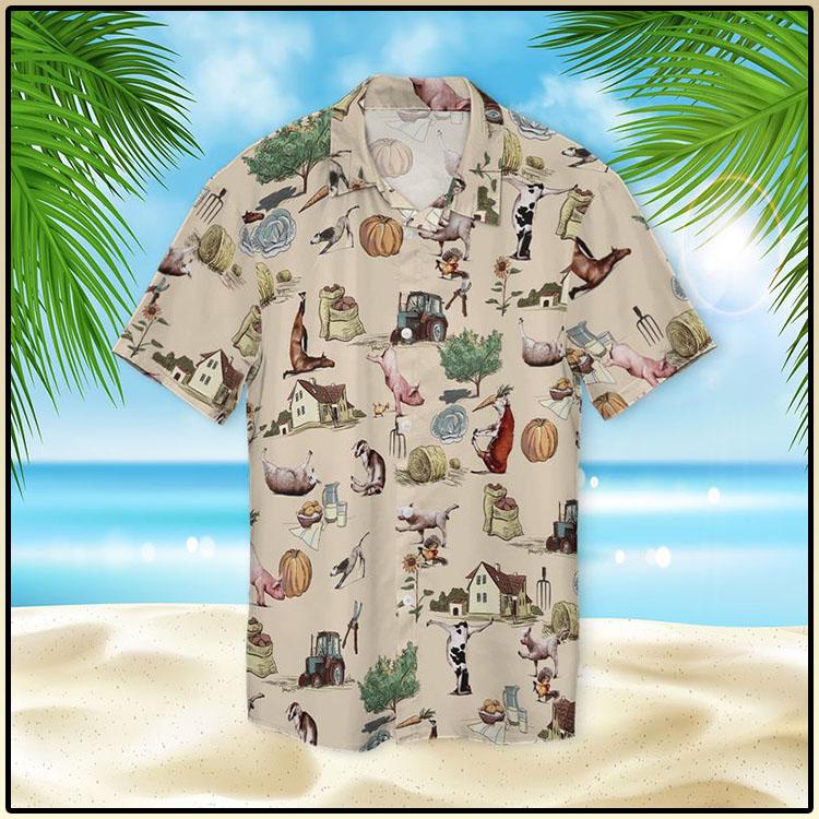 Farm Animal Yoga Pose Hawaiian Shirt54