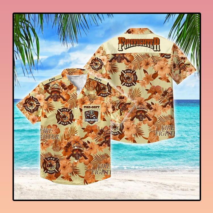 Firefighter fathers day Hawaiian Shirt 3