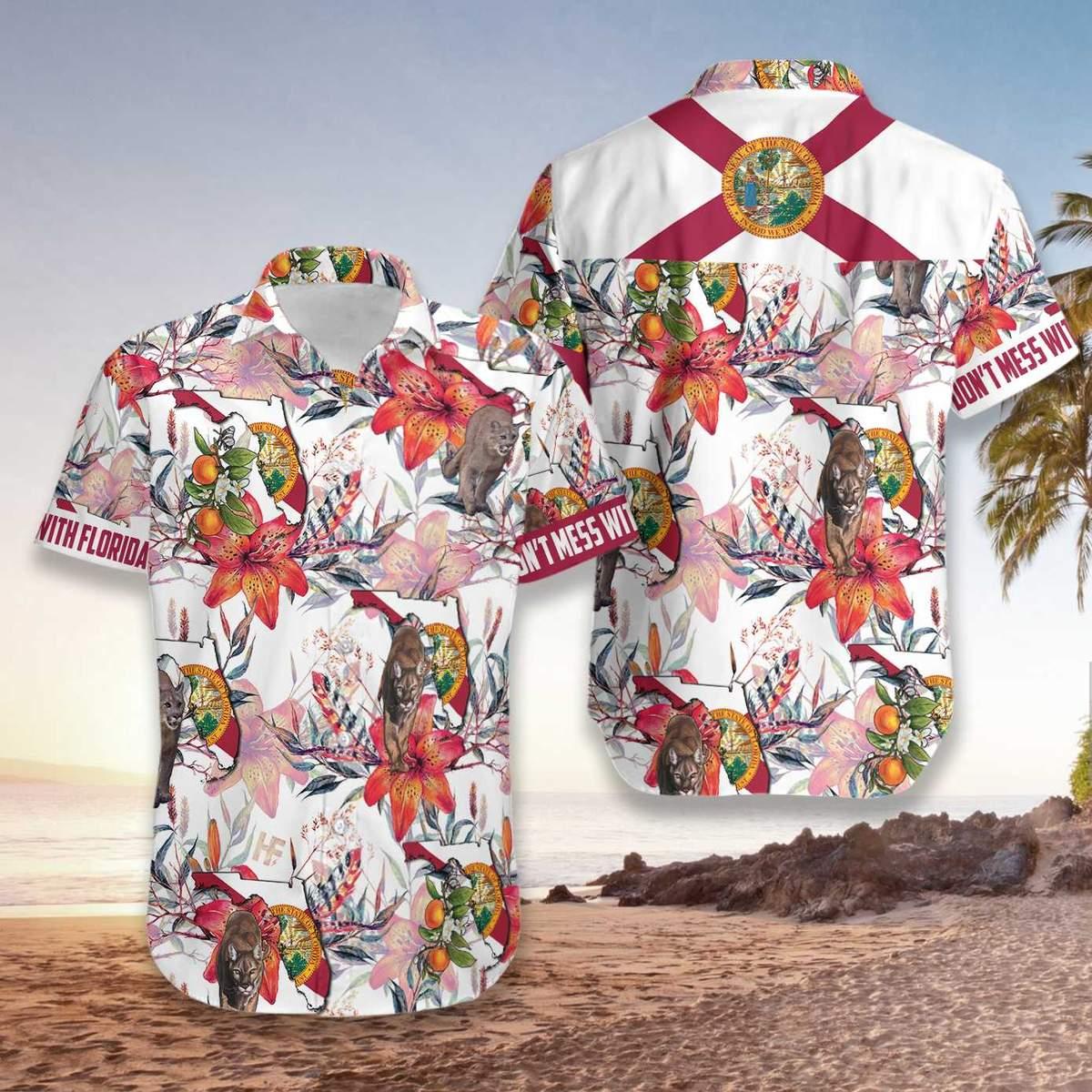 Florida Panther Hawaiian Shirt3