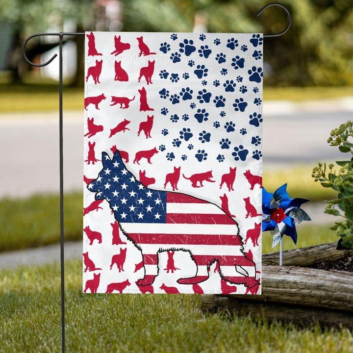 GSD Amercian house flag and garden flag