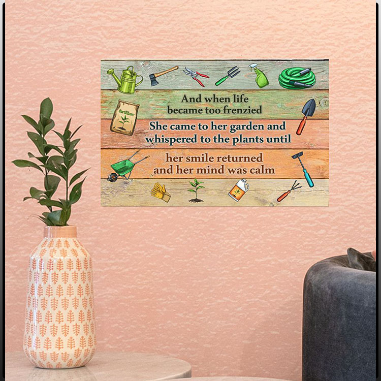 Gardening And when life became too frenzied poster1