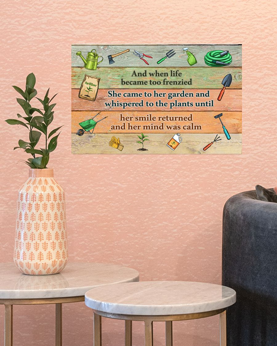 Gardening And when life became too frenzied poster145