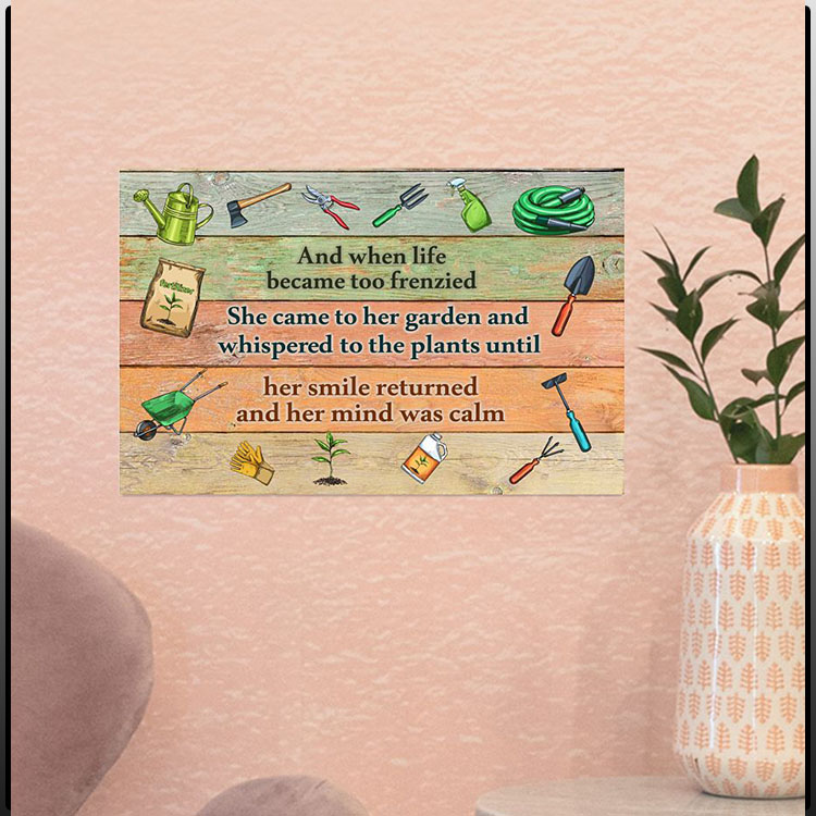 Gardening And when life became too frenzied poster5