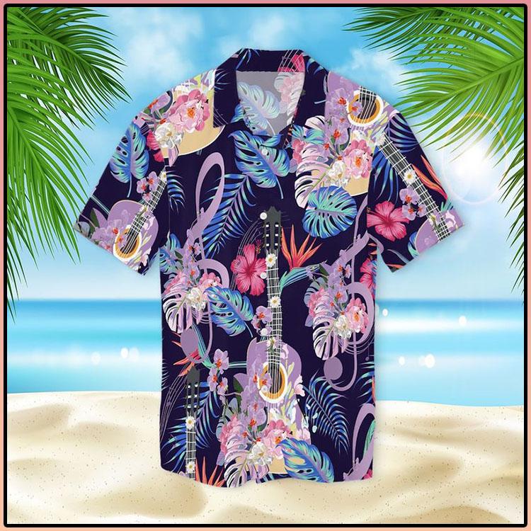 Guitar With Treble Clef Hawaiian Shirt4