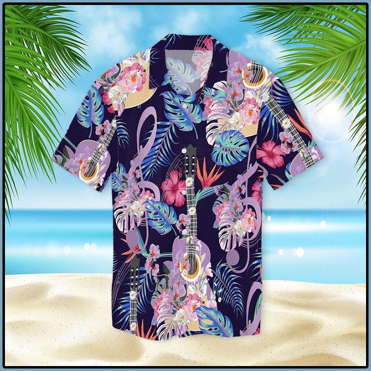 Guitar With Treble Clef Hawaiian Shirt6