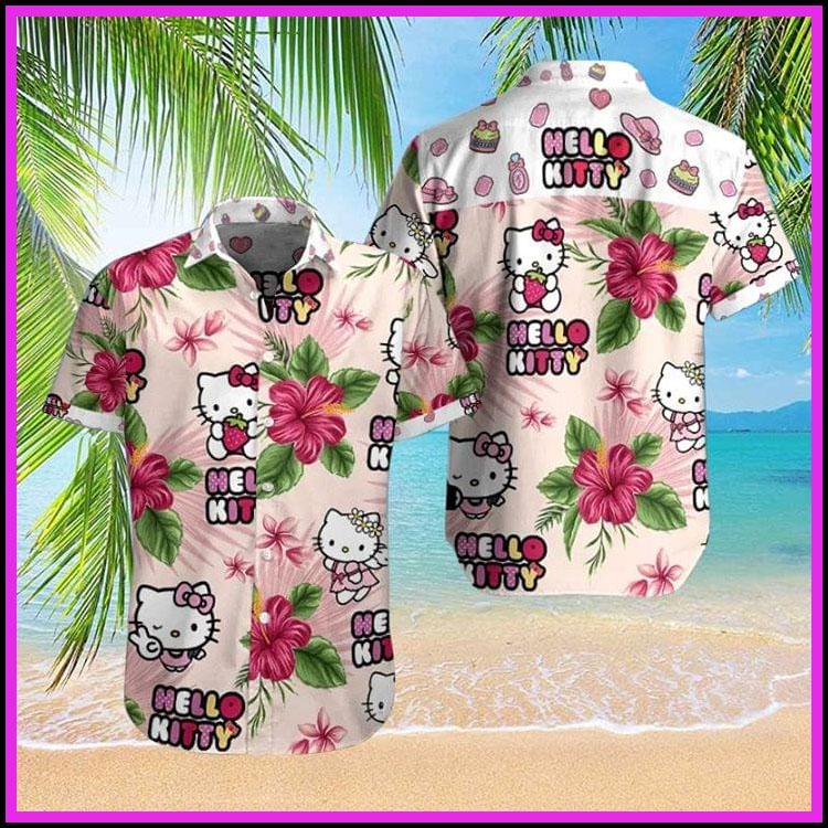 Hello kitty hawaiian shirt2