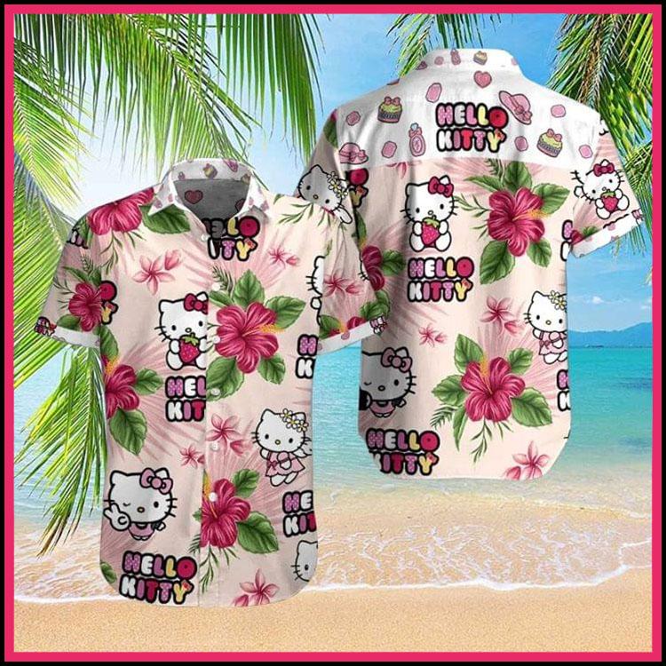 Hello kitty hawaiian shirt3