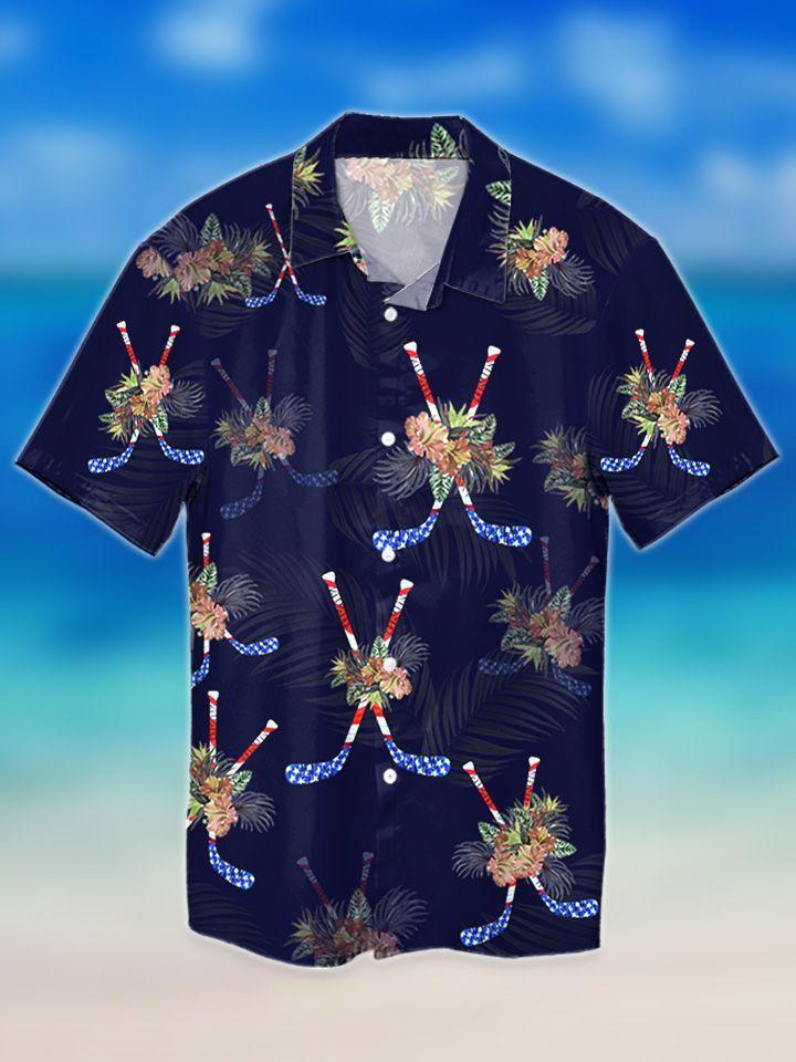 Hockey tropical hawaiian shirt