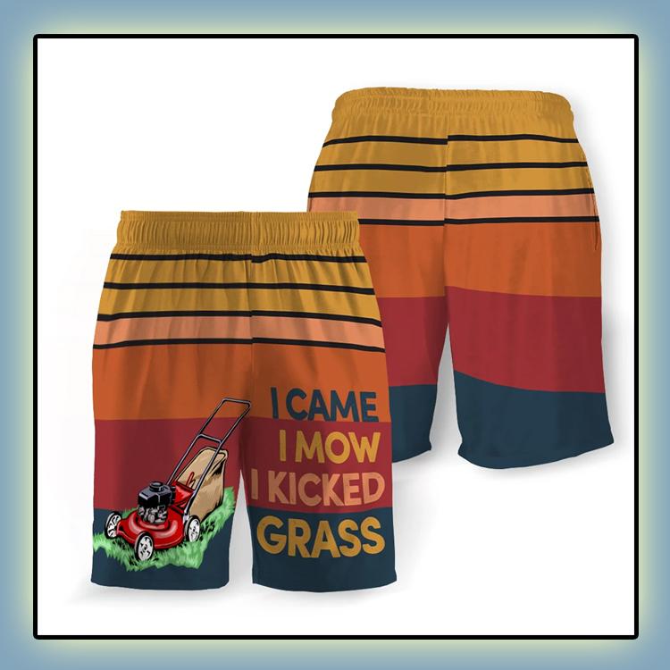 I Came I Mow I Kicked Grass Beach Short1