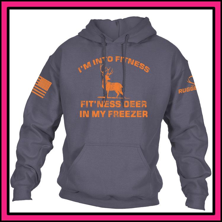 Im into fitness fitness deer in my freezer 3d hoodie2