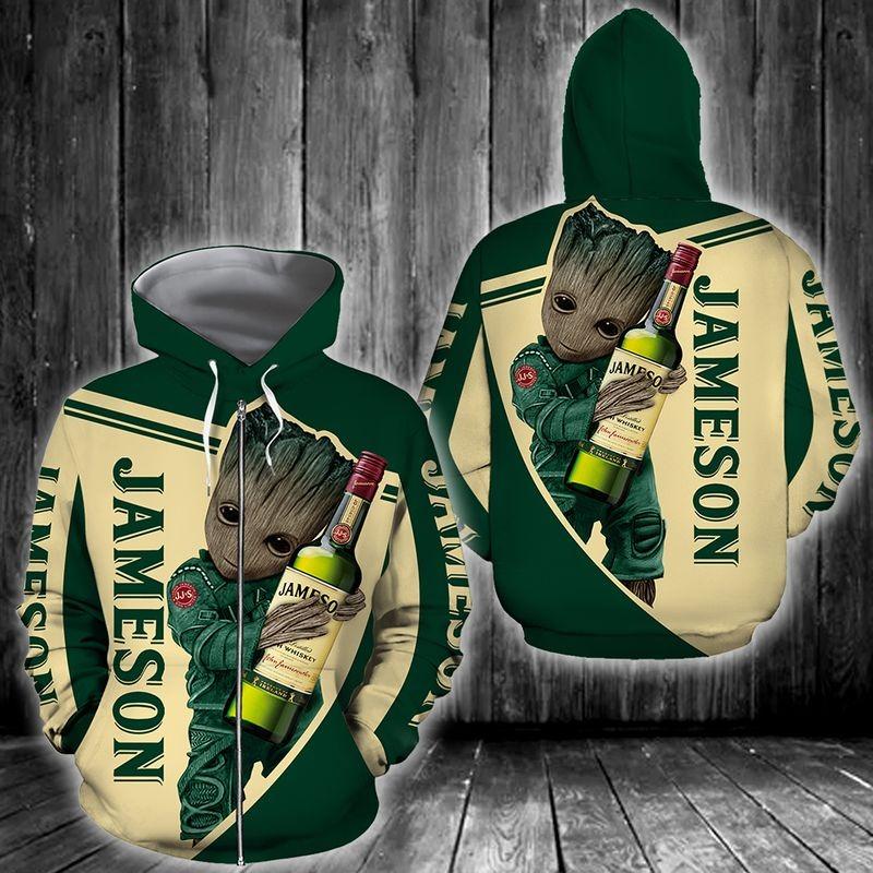 Jameson Zipper 3D Hoodie