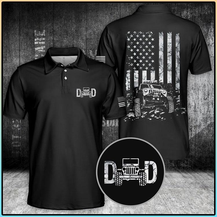 Jeep Car Dad Polo Shirt3
