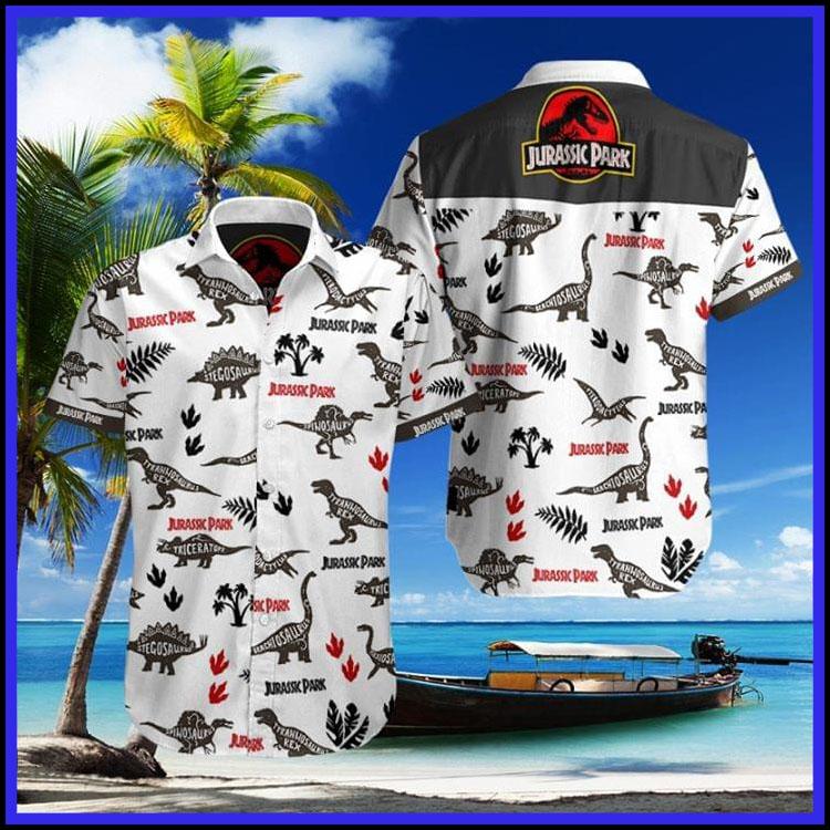 Jurassic park hawaiian shirt3
