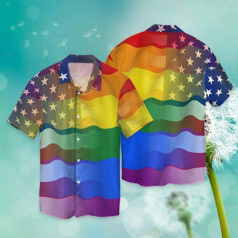 LGBT love America peace Hawaiian shirt