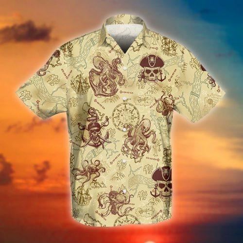 Octopus pirate hawaiian shirt
