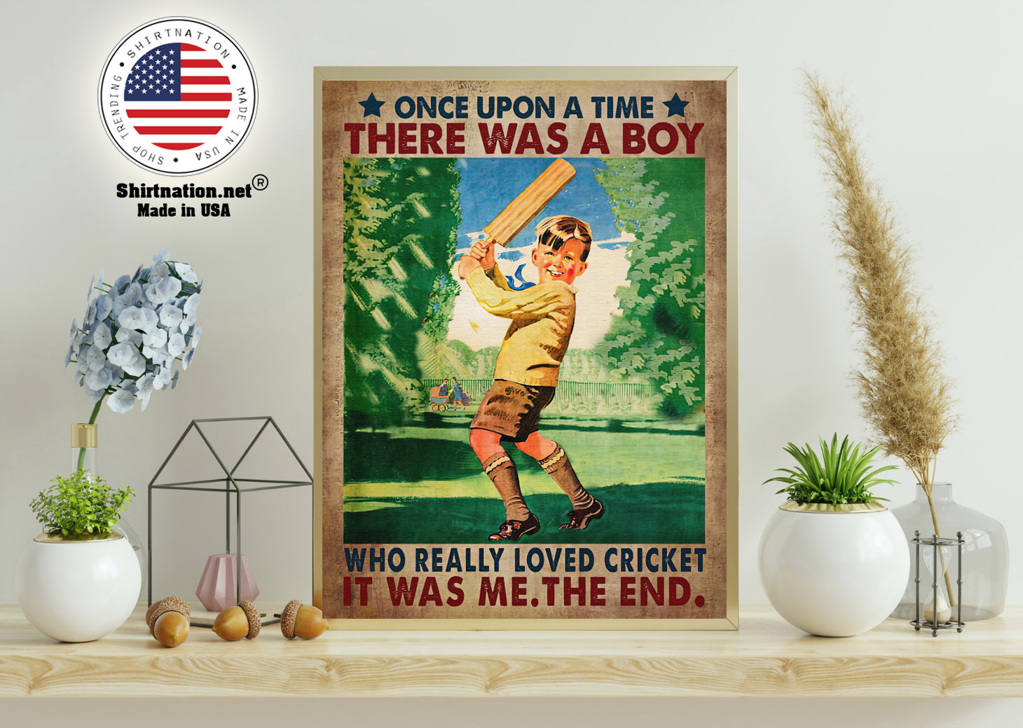 Once upon a time there was a boy who really loved cricket poster 11