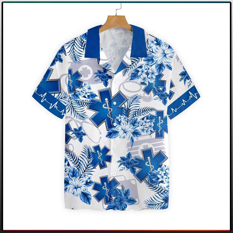 Paramedic Name Custom Hawaiian Shirt pts1