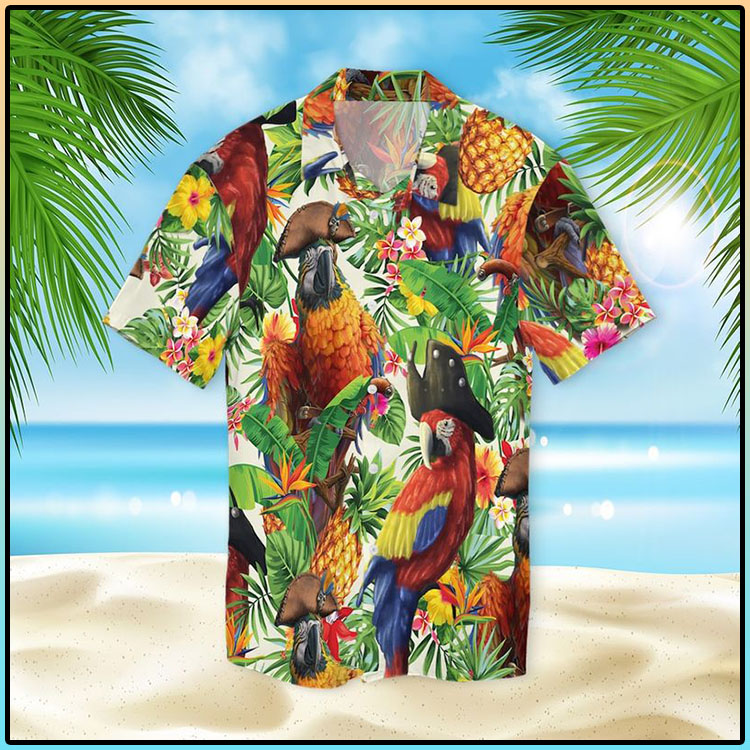 Pirate Parrot Hawaiian Shirt3