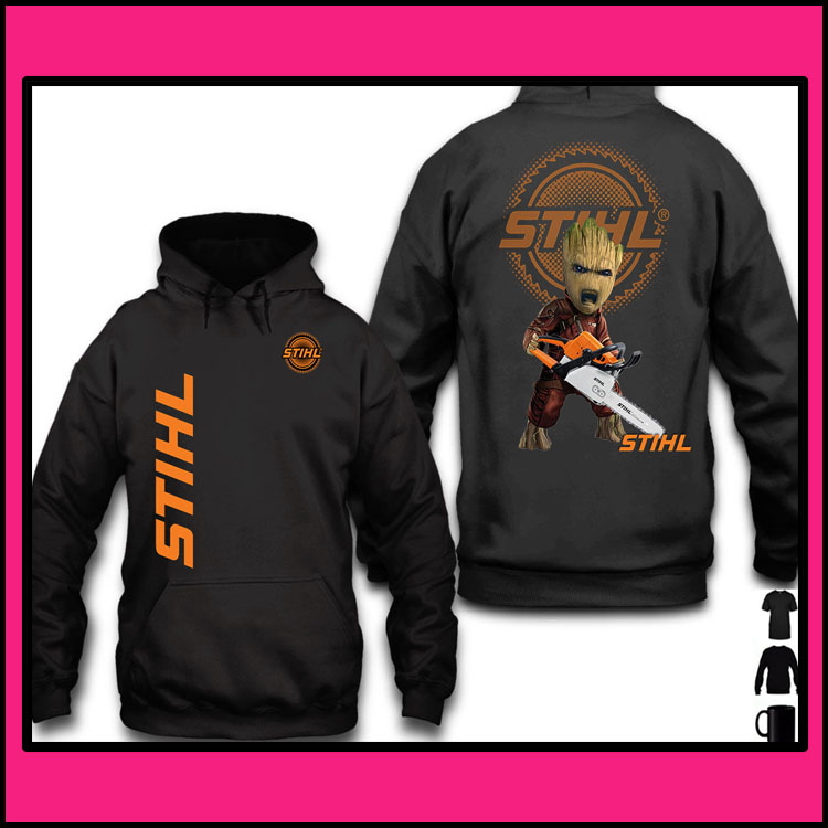 STIHL Groot 3d over print hoodie2