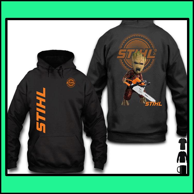 STIHL Groot 3d over print hoodie4