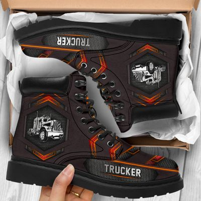 Trucker pattern carbon timberland boots as