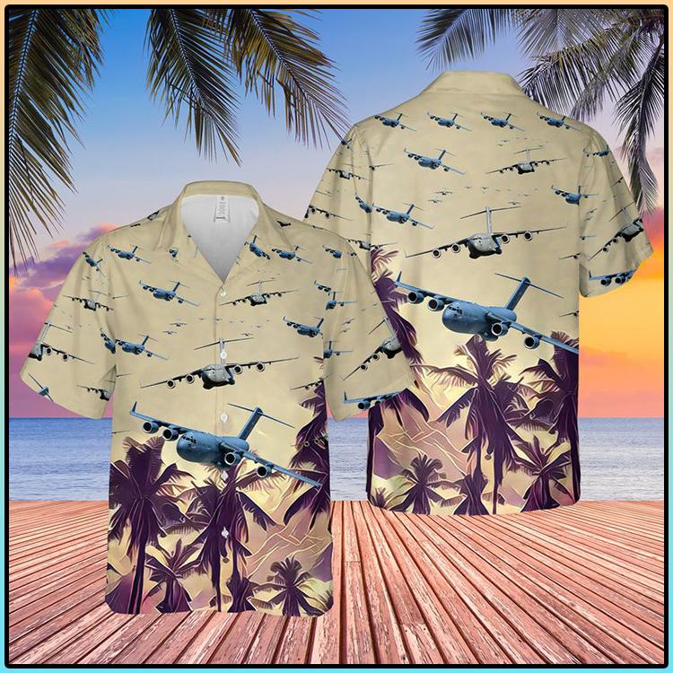 US Air Force Boeing C 17 Globemaster III Hawaiian Shirt And Short1