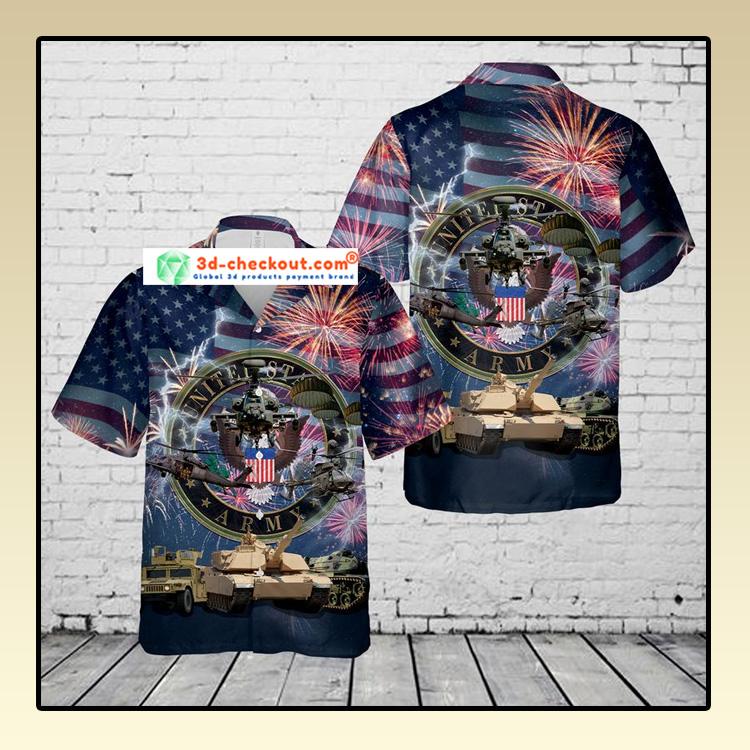 US Army 4th Of July Hawaiian Shirt2 1