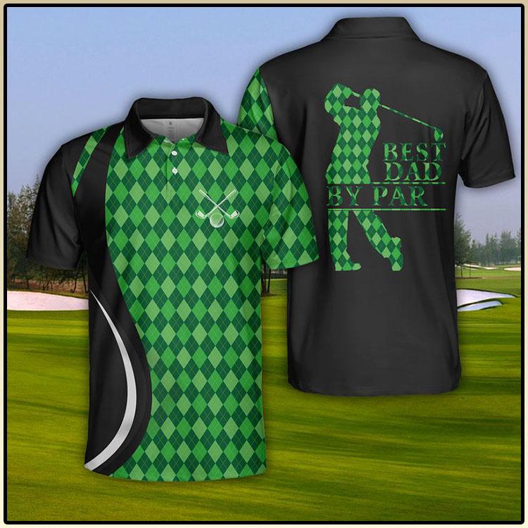 USA Golf Best Dad By Par Polo Shirt5