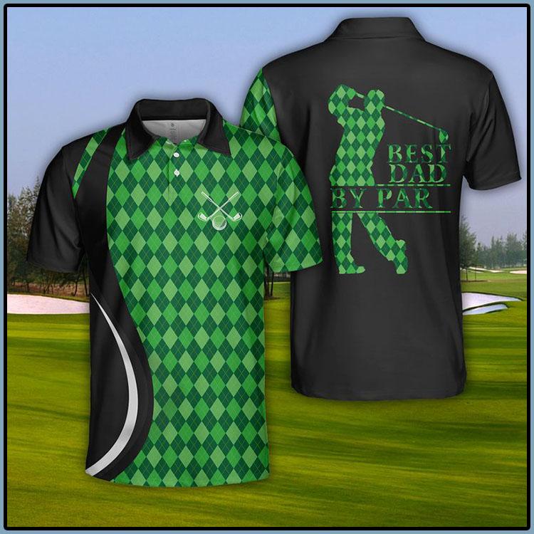 USA Golf Best Dad By Par Polo Shirt7