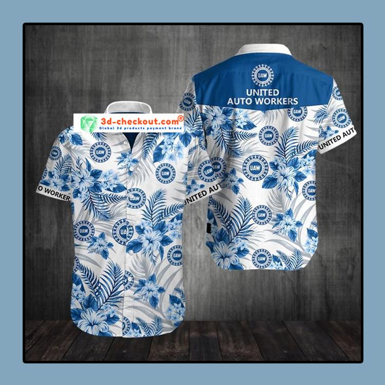 United auto workers UAW Hawaiian Shirt 3