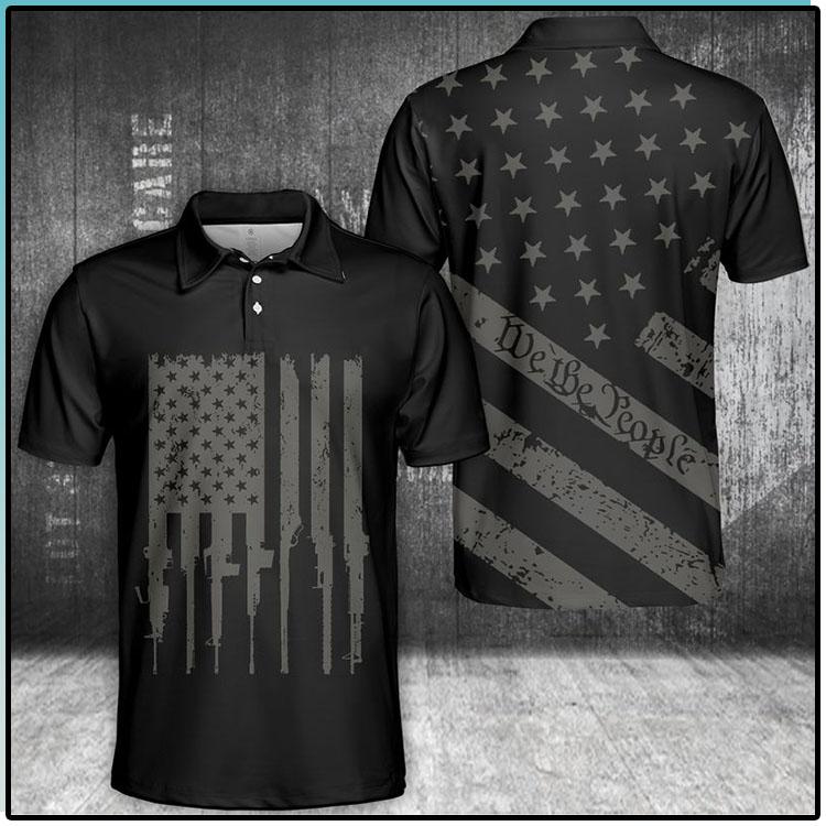 We The People U.S Flag Polo Shirt2