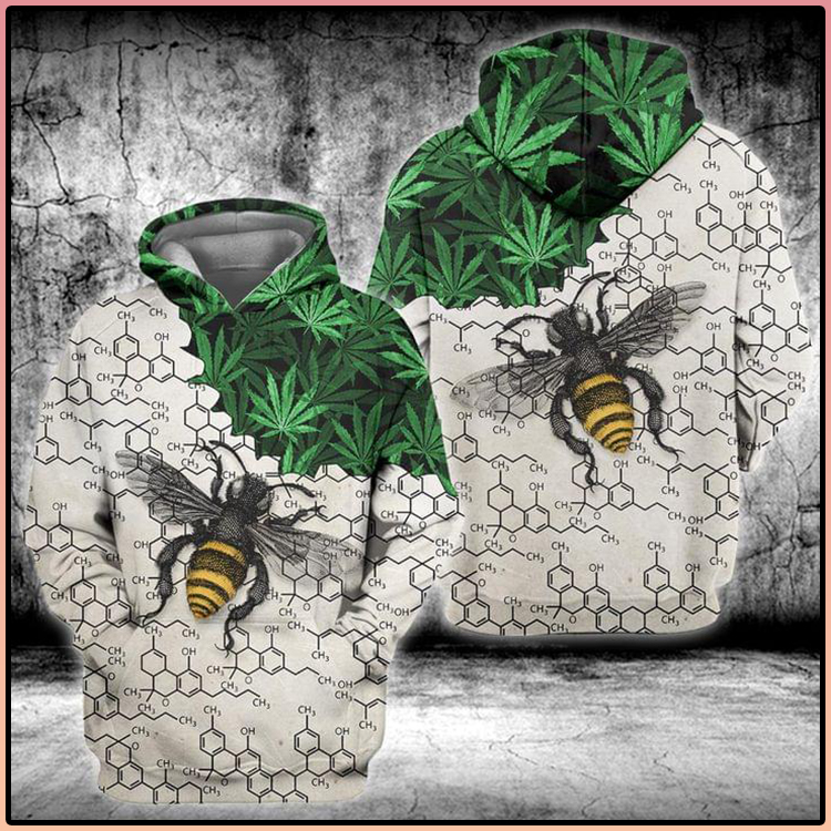 Weed Bee Chemical periodic 3D Hoodie2