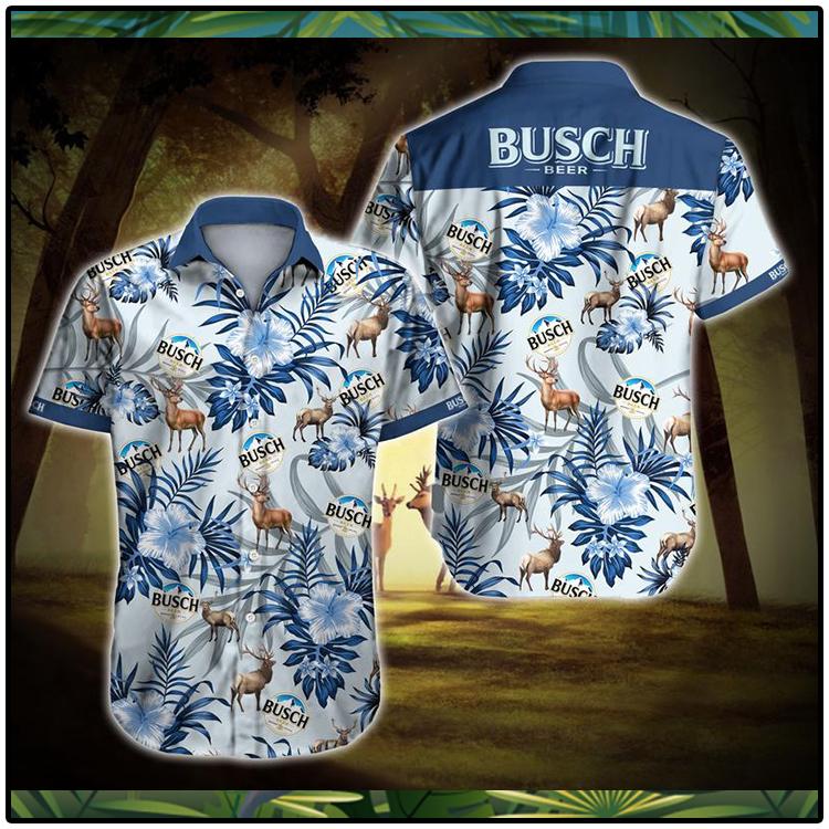 Busch Beer Tropical Pattern Hawaiian Shirt2